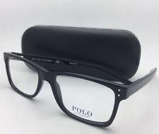 New POLO RALPH LAUREN Eyeglasses PH 2057 5001 55-18 145 Black Rectangular Frames