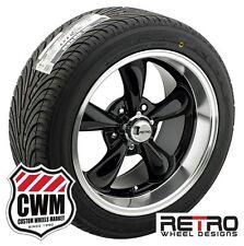 18x8/18x9 inch Wheels Black Rims Tires for Chevy Camaro 67-81