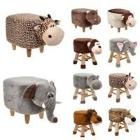 ANIMAL SHAPE FOOTSTOOL PADDED CUSHION STOOL POUFFE REST SEAT OTTOMAN CHILD TOY