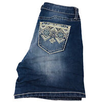 ND New Directions Womens Blue Denim Stretch Jean Shorts Size 10R Short