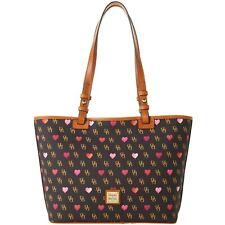 Dooney & Bourke Gretta Hearts Small Leisure Shopper Tote Purse Bag