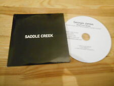 CD Indie Georgie James - Need Your Needs (3 Song) Promo SADDLE CREEK cb