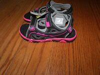 NEW GIRLS EDDIE BAUER MOLLY SANDALS BLACK PINK KIDS SIZE 2 3 11 12 13 SHOES