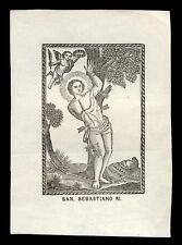santino stampa popolare 1800 S.SEBASTIANO M.