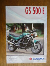 SUZUKI GS 500E MOTORBIKE BROCHURE,  1996  POST FREE (UK)