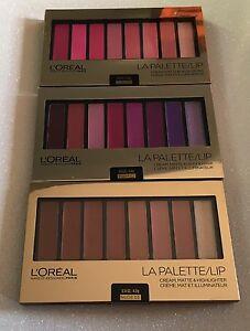 L'oreal  Makeup Designer La  LIP Palette Cream, Matte & Highlighter, You Choose