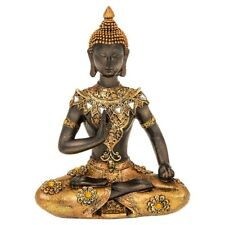 Meditating Golden Thai Buddha Sitting 15cm Small Statue Ornament Figurine