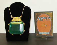 MTG Magic the Gathering - MOX EMERALD Pendant / Necklace - Custom Very Nice