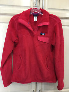 Patagonia Re Tool 1/4 Snap T Fleece Pullover Women's M Cherry Red