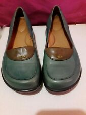 "Dansko ""Desiree"" Leather Shoes Teal  with Removable Insoles Size 36 or US 5.5"