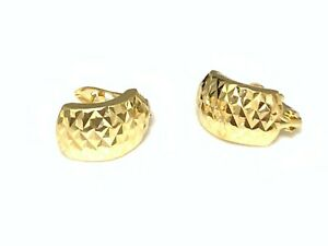 New Real 18K Saudi Gold French Clips Earrings