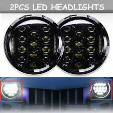 NEW H4 LED H6014 H6015 H6024 Projector Headlights Hi/Lo Beam Lamps For Chevrolet