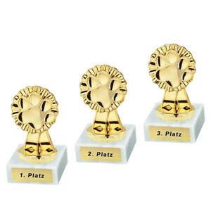 3 Hundesport-Pokale (Pfote) mit 1.2.und 3.Platz oder Wunschgravur (P0483)