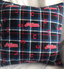 MLB Cleveland Indians 16 x 16 Flannel Pillow Cover