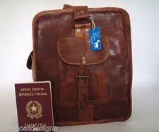 """Handmade Goat Leather 24"""" Duffel Sports Gym Bag DL/R Travel Billy Goat Designs"""