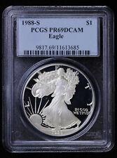1988 S Proof Silver Eagle PCGS PR 69 DCAM