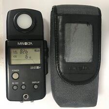 minolta color meter iiif - used ,good condition black