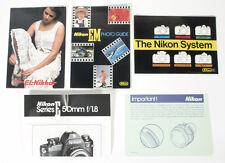 Vintage Nikon Em Literature/Pamphlet Lot
