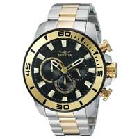 Invicta Men's Pro Diver Black Dial TT Steel Bracelet Chronograph Watch 22588