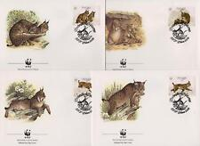 Portugal 1988 World Wildlife Fund - Lynx Cat  - 4 First Day Covers - (124)