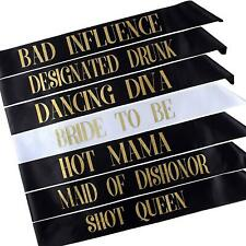 7pcs Hen Party Sash For Girl Night Out Bridal Shower Wedding Bachelorette Party