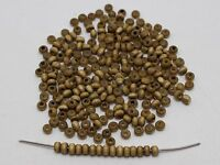 1000 Light Coffee 4mm Round Wood Seed Beads~Wooden