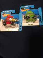2014 Hot Wheels ANGRY BIRDS RED & GREEN PIG 82/250 81/250 HW CITY Shot Card