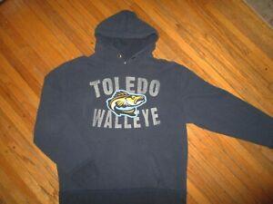 TOLEDO WALLEYE HOODIE Sweatshirt  Pullover Hooded Minor League Hockey Adult MED