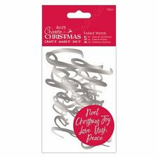 Docraft Papermania Foiled Words (12pcs) - Silver great for cards & crafts