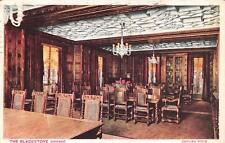 CHICAGO, IL  Illinois  THE BLACKSTONE HOTEL  English Room Interior 1929 Postcard