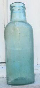 PERTH GLASS WORKS PICKLE JAR HORSESHOE TM WESTERN AUSTRALIA CIRCA 1900-1910