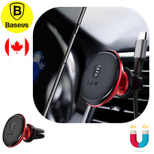 Baseus Magnetic Premium Car Mount Phone Holder Air Vent with Cable Clip +Sticker