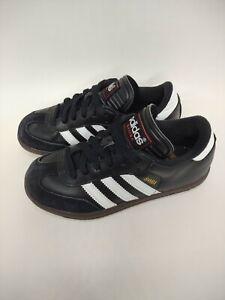 Youth Boys Youth Adidas Samba Black/White  Soccer Shoes Size 1