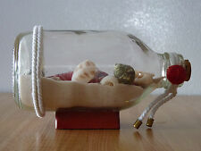 Unique Design Decorative Clear Glass Sand & Shell Bottle ! Lobster !