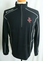 New Houston Rockets NBA Embroidered Black Columbia 1/4 Zip Pull Over Men's M