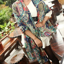 Girl's Chiffon Print Silk Long Neck Scarfs Shawl Scarves Navy blue Stole Wraps