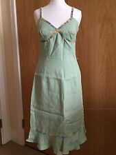 Italian Design Renato Nucci Mint Green Dress Sz Uk8-10  Party Wedding Ex Cond(vj