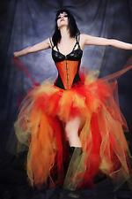 Lady Burlesque Bustle Tulle Tutu Mesh Sheer Skirts Fashion Halloween Fancy Dress
