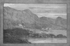 CANADA. Wooden houses erected for Princess Louise and her ladies, print, 1880
