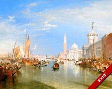 DOGANA & SAN GIORGIO MAGGIORE VENICE ITALY PAINTING ART REAL CANVAS GICLEEPRINT