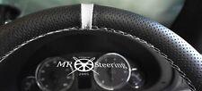 VOLANTE in Pelle Perforata Copertura Per Mercedes Vito 2 W639 + cinturino bianco