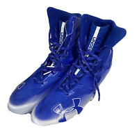 Under Armour Highlight MC High Mens Blue White Football Cleats Sz 10.5 NWOB