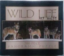Ceaco Jigsaw Panoramic Puzzle by Art Wolfe Wolf Wolves 700 Pieces New