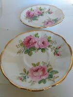 Vintage Beautiful Royal Albert - AMERICAN BEAUTY - Saucer Only (2 pcs)