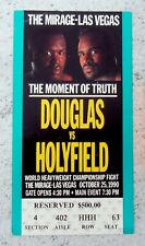 JAMES BUSTER DOUGLAS vs. EVANDER HOLYFIELD: Original $500 Fight Ticket Stub