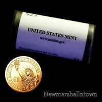 2012-P ROLL BENJAMIN HARRISON GOLDEN PRESIDENTIAL 25 DOLLARS ROLL MINT WRAPPED