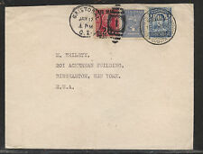 Colombia   Canal Zone mixed franking cover to US  1930              MS0621