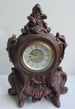 Narco Clock Germany Alarm Mantle Working Reddish Brown Ceramic