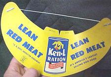 B7 Vintage RARE Ken L Ration Dogfood dog food advertising bib Horse meat Pet