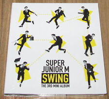 SUPER JUNIOR M 3rd Mini Album SWING K-POP PHOTOCARD + CD WITH FOLDED POSTER NEW